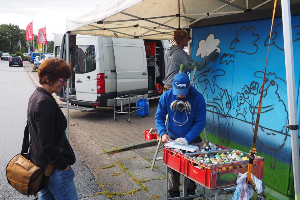 Neugestaltung Des Trafohauschen Bei Mobel Jessen Gemeinde Breklum